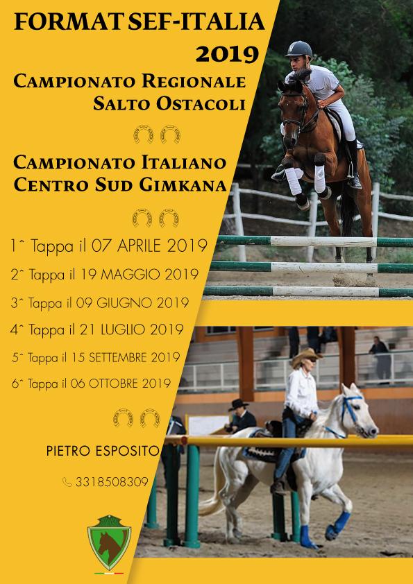 Calendario Regionale Salto Ostacoli.Format Sef Italia 2019 Campionato Regionale Salto Ostacoli
